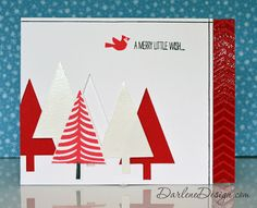 Festival of Trees contemporary card, including video tutorial.