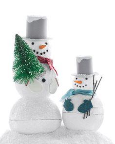 Sparkling Snowman Treat Boxes - bjl