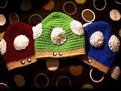 Mario Mushroom Hat -cuuuute!