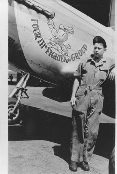 Found this photo in my collection from the USAAF veterans I interivewed for Nose Art Films project. Does anyone know who the man is standing next to the aircraft?