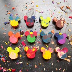 Mickey mouse crayons!