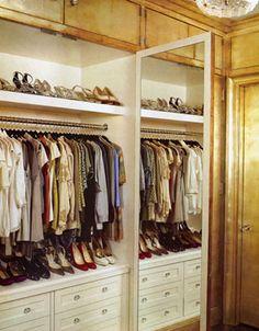 gold leaf closet.  yes please.