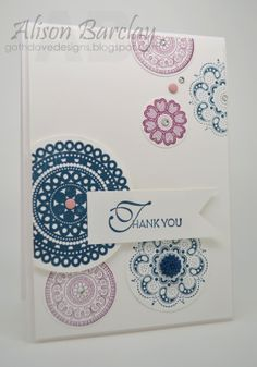 Gothdove Designs - Alison Barclay Stampin' Up! ® Australia : Stampin' Up! Australia - Color Coach Card #47 - Stampin' Up! Lacy & Lovely