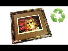 DIY: Marco de papel. Paper frame. - YouTube