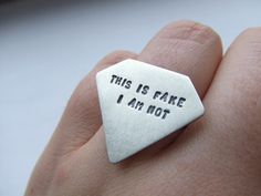 fake diamond rings