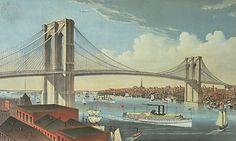 Brooklyn Bridge in 1883