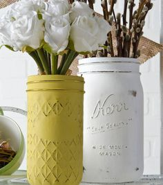 Ball Jar Chalk Paint Vases | DIY Mason Jar Vase