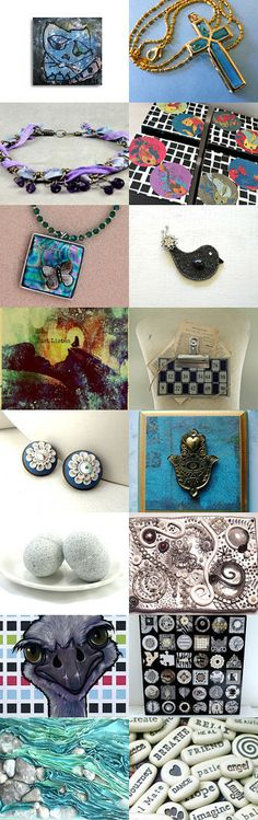 Mixed Media Monday #12 - an etsy.com treasury created by Carla's Craft