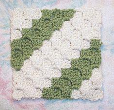 crochet stitch - diagonal box