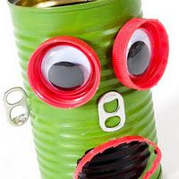 All the things you can do... with tin cans.  Great toy and craft ideas for kids