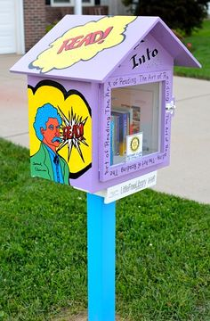 Dale Rupright. O'Fallon, IL. Our Little Free Library is part of a city-wide effort to increase literacy by The Rotary Club of O'Fallon, Illinois, of which our steward is a member. It was decorated by the O'Fallon Township High School Art Club. Our library will offer books that appeal to a broad range of readers.