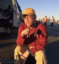 Tailgating at a Redskins game, Matthew Yehiel wears his Ball Fireman Victory.