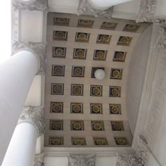 Architectural details from one of the two main enterences to the West Virginia state capital building