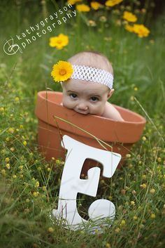 4-month-old baby, outdoor baby photos