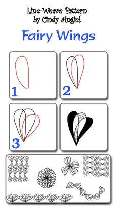 fairy wings zentangle design #zentangles