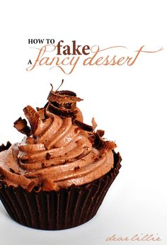 """Dear Lillie: How to """"Fake"""" A Fancy Dessert (A really easy way to make chocolate mousse in chocolate bowls)"""