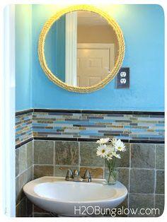 Rope Trimmed Vanity Mirror | H20 Bungalow