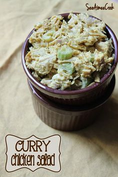 Curry Chicken Salad - a healthier (and tastier) take on the traditional chicken salad!