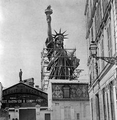 Statue of Liberty in Paris, 1877-1885 - Retronaut