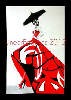 Alexander McQueen Fashion Collage Illustration by LinearFashions