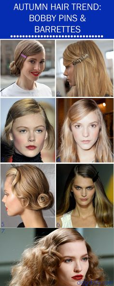 Autumn Hair Trend: A DDG Moodboard full of mane changing pins and barettes www.ddgdaily.com
