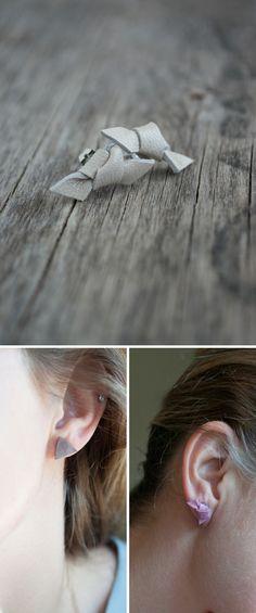 DIY: Leather Earrings