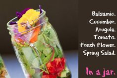 Balsamic Veggie Salad in a Jar - Foodista.com