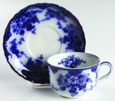 ~Flow Blue Cup & Saucer~