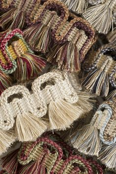"Charles Faudree Passementerie Trimmings collection: Yves is a 2"" scalloped cut fringe that truly customizes a drapery or furniture when added to the leading edge. #charlesfaudree #stroheim #trimmings"