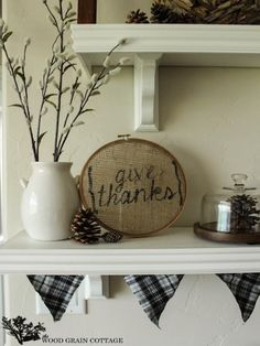 DIY this burlap decor by making a stencil and filling it in with black craft paint.