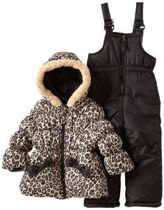 Pink Platinum Girls 2-6X Cheetah Snowsuit Set for only $25.00 You save: $85.00 (77%)