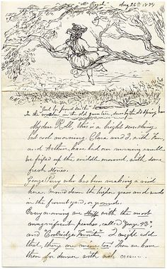 Citation: Letter to My Dear Rolle, Aug. 26, 1874. Rembrandt Lockwood and Lockwood family papers, Archives of American Art, Smithsonian Institution.