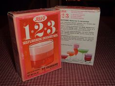 1970's 1*2*3 Jell-O Dessert Mix Boxes | Flickr - Photo Sharing!