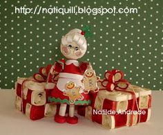 Mrs Santa with her presents
