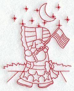 Patriotic Sunbonnet Sue  Sunbonnet Sue's by StartingStitches, $3.00
