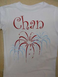 Vinyl cut iron on transfer - tshirt for 4th of July for Chan