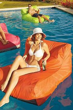 Float in style this summer on the comfort of memory foam with the Sit-in Pool Float, available in several bright summer colors.