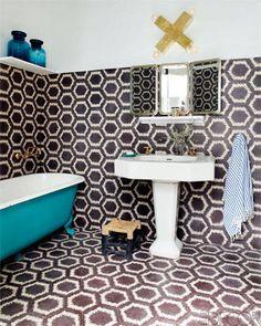 A Moroccan Tile Bathroom
