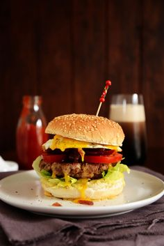 Classic New Zealand Burger From The Kitchen