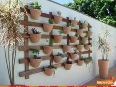 Inspiração para jardim vertical.