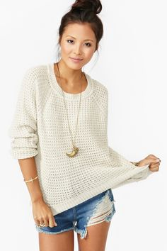 Oxford Knit/ chunky sweater