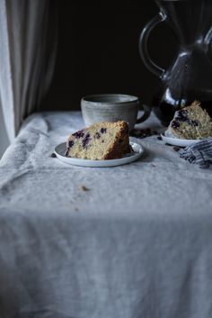 Local Milk | blueberry, buttermilk, & rosemary brown butter cake + velo coffee giveaway