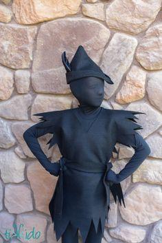 Peter Pan's shadow. Dye Peter Pan costume black, layer over black morph suit.