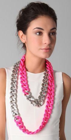 DIY: Neon Necklace