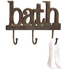 Bath Wall Rack. Love this for hanging towels after the shower, etc