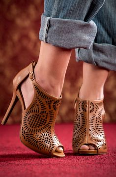 Cognac Cutout Heels