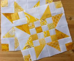 """Great 12"""" (finished) block. Link to a link to access the excellent tutorial."""