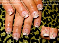 Gel Nails ~ Pink Real Tree Camo Tips ~  Camo ~ Camouflage ~ Browning Symbol ~ Country   www.facebook.com/EmLosNailArtistry www.emlosnailartistry.yolasite.com
