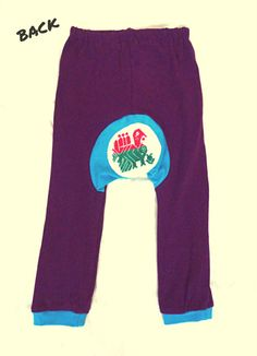 Hand Embroidered Purple and Turquoise Baby Leggings El by lukuma, $35.00