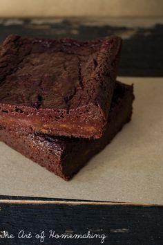 Gluten-Free Red Velvet Brownies from The Art of Homemaking